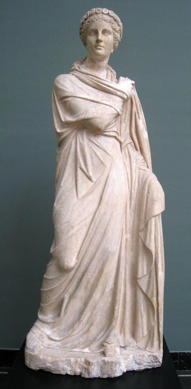 Скульптура музи Полігімнія - покровительки ораторів