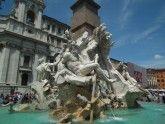 Фонтан чотирьох рік на площі навона в римі, італія. Опис фонтану 4 річок. Fontana dei quattro fiumi на фото. »Карта мандрівника
