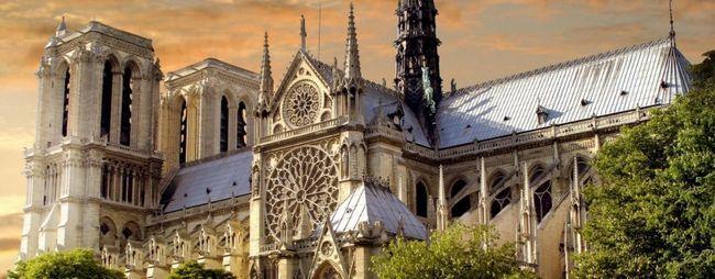 Нотр дам де парі або собор паризької богоматері в парижі, франція. Notre dame de paris на мапі парижа. Фото і відео собору. »Карта мандрівника