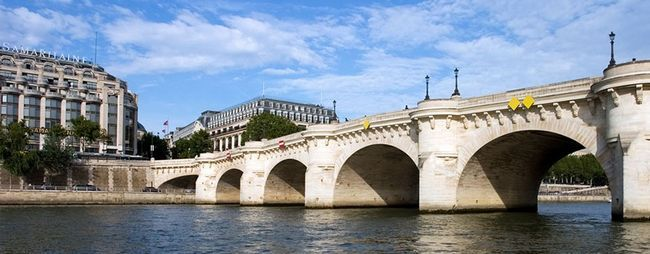 Новий міст в парижі, франція. Міст пон неф на фото. »Карта мандрівника