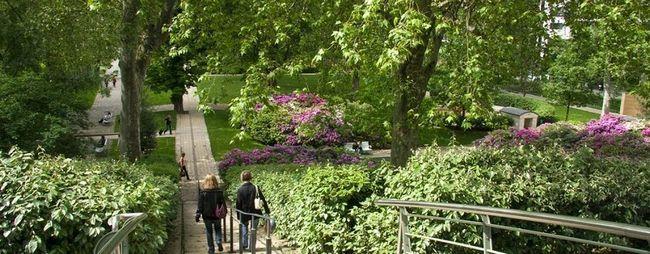 Парк берсі в парижі, франція. Parc de bercy на мапі парижа. Парк на фото. »Карта мандрівника