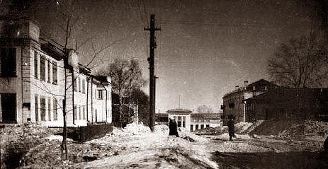 Павільйон парку з боку вул. Орджонікідзе 1950-ті