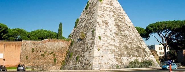 Піраміда цестія в римі, італія. Мавзолей цестія на мапі рима. Фото піраміди. »Карта мандрівника