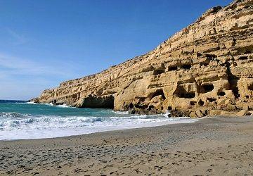 Скелі на березі Лівійського моря