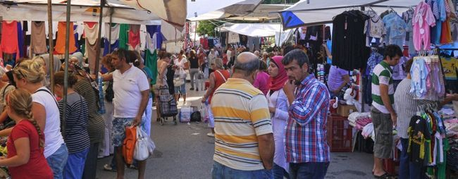 Ринки та базари в анталії, туреччина: речові, блошині і продуктові на карті »карта мандрівника