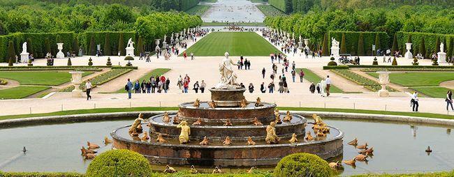 Сади і парки версаля в парижі, франція. План версальського парку. Сад версальського палацу на фото і відео. »Карта мандрівника