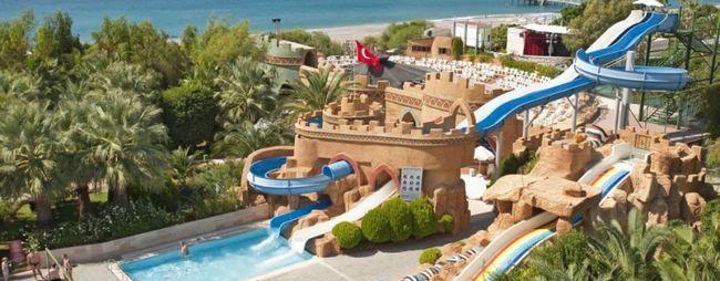 Кращі готелі Туреччини 5 зірок з аквапарком: для дітей, з піщаним пляжем, великою територією, фото
