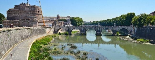 Тибр - головна річка на якій стоїть рим, італія. »Карта мандрівника