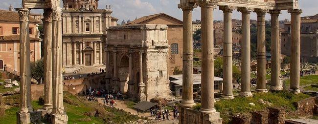 Тріумфальна арка септимія півночі в римі, італія. Arco di settimio severo на фото. »Карта мандрівника