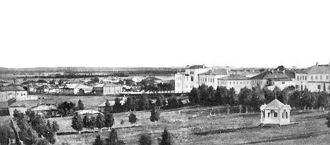 Міський парк в Усть-Сисольск, початок 20 ст. Видно альтанка, яка була побудована для зустрічі великого князя Сергія Олександровича і перенесена потім в парк.