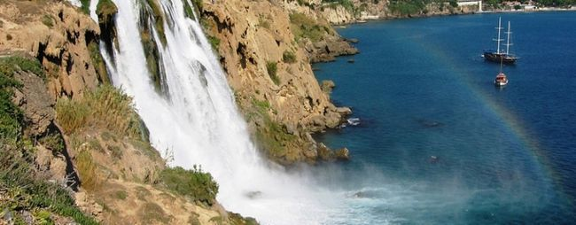 Водоспад і парк дюден в анталії, туреччина »карта мандрівника